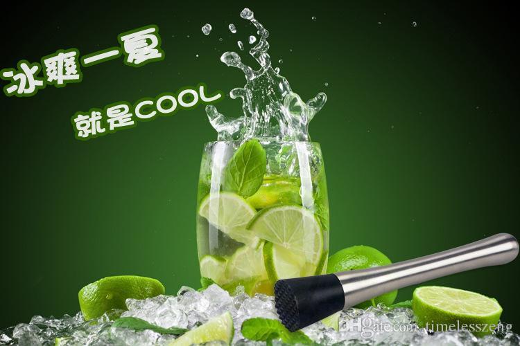 Paslanmaz Çelik Buz Kokteyl Swizzle Sopa Meyve Muddle Pestle Popsicle Sticks Ezilmiş Buz Çekiç Bar Araçları Şarap Araçları