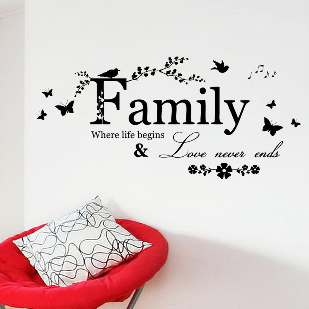 30x65cm pvc family style creative english text pattern living room 30x65cm pvc family style creative english text pattern living room bedroom tv sofa background decorative stickers wall accents stickers wall adhesives from