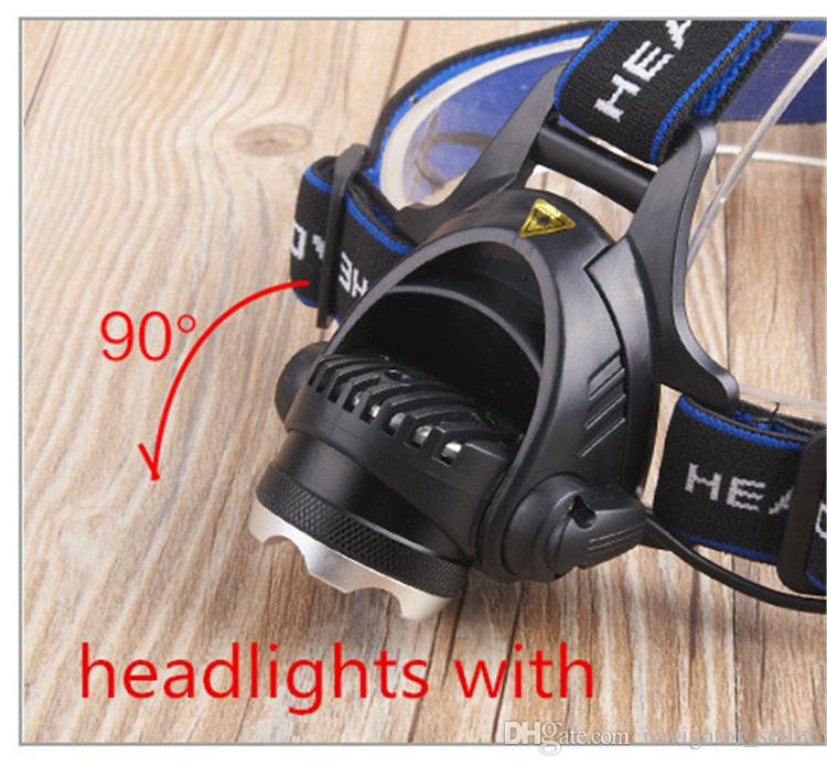 Outdoor Gear Head Flashlights Escape SOS Mountaineer Hiking Camping Fishing LED Light Electric Torches T6 /XPE Battery Charger Headlamps DHL