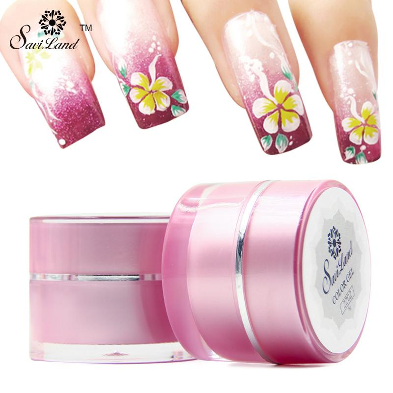 Wholesale Saviland Acrylic Nail Art Paint 3d Uv Gel For Nails Art
