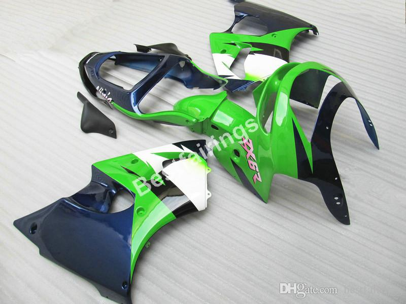 Kit de carenado de alta calidad y precio más bajo para Kawasaki Ninja ZX6R 98 99 carenados de carrocería verde azul oscuro ZX6R 1998 1999 ET34