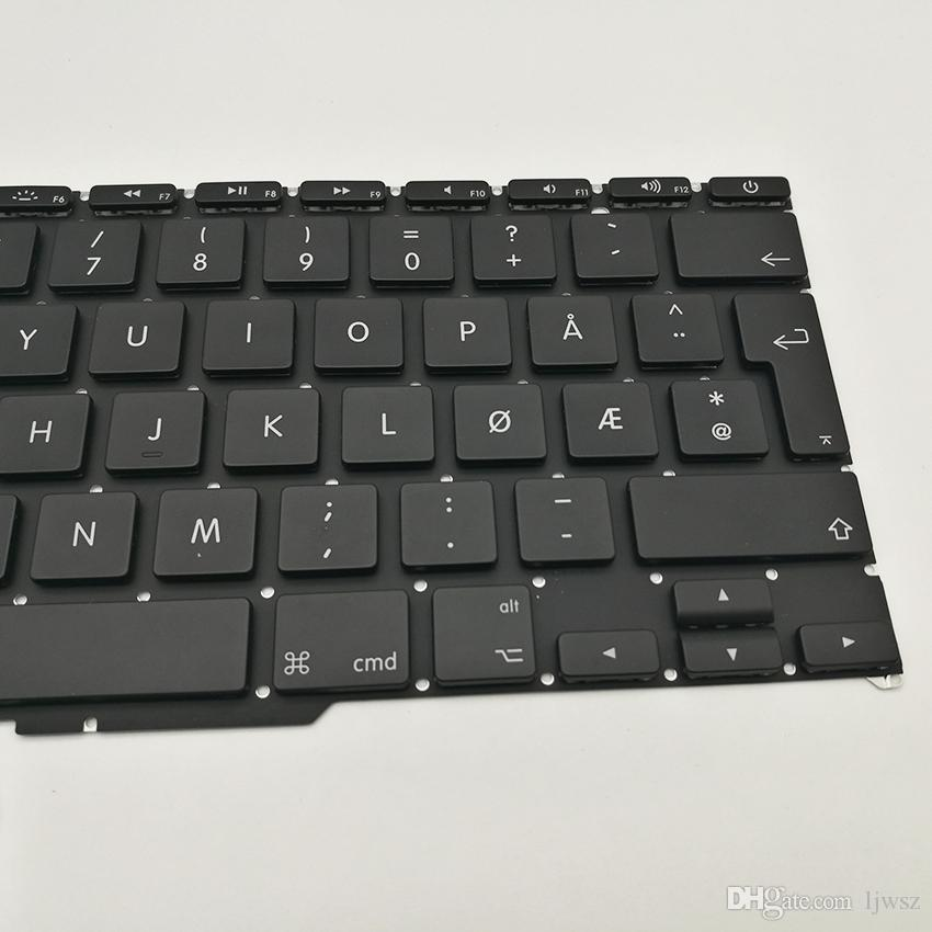 New A1370 A1465 Norway Keyboard For Apple Macbook Air 11'' A1465 A1370 Keyboard Norwegian Replacement 2011-2015