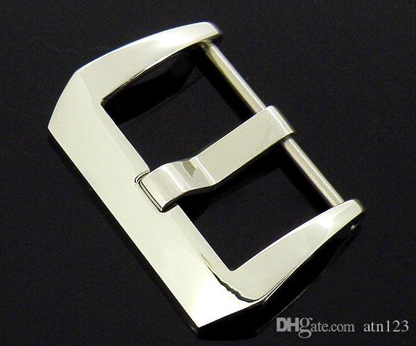 24mm Top Stainless Steel PRE-V Screw-in Buckle For Mens Watch Silver Watch Buckle Brand New P119