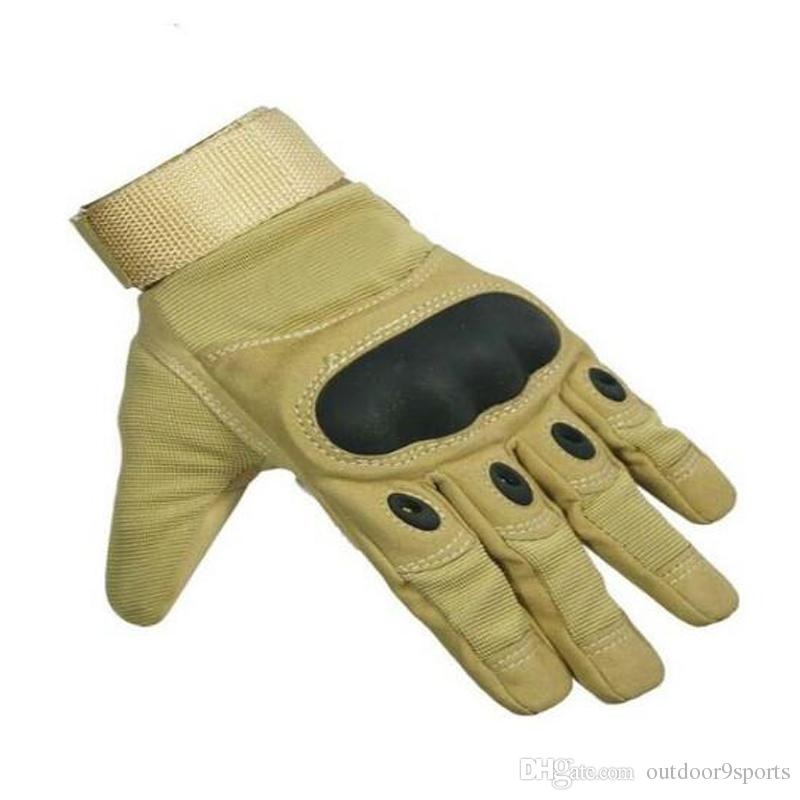 Outdoor Climbing Tactical Gloves Sports Leather Glove Combat Army Full Finger Gloves Hunting Riding Racing Fitness Gloves