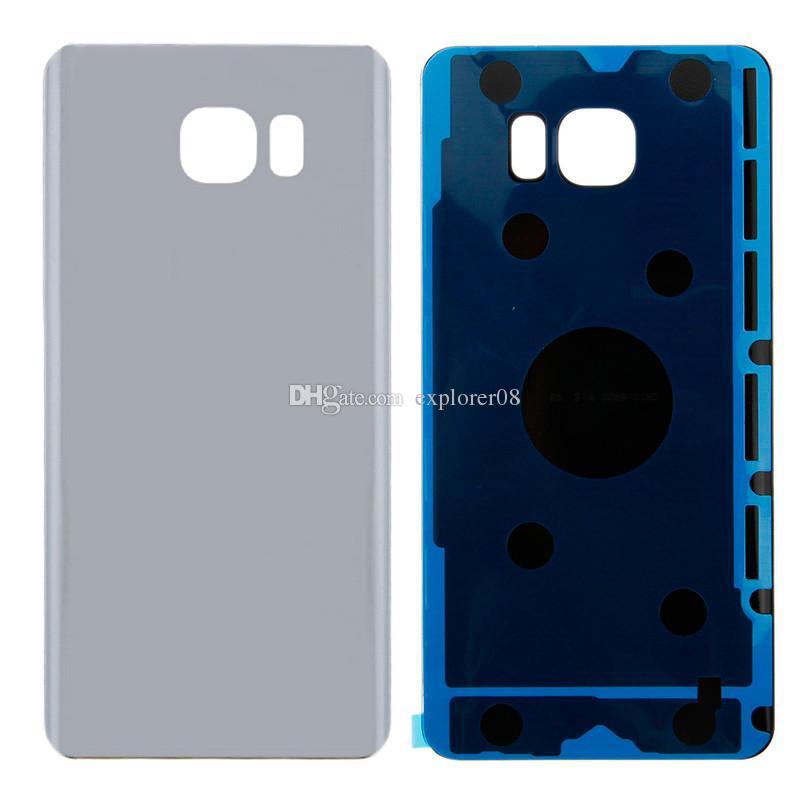 Porta batteria coperchio posteriore Custodia in vetro + adesivo adesivo Samsung Galaxy S7 S6 bordo Plus G925 G930 G935 Nota 5 N920 / Lotto