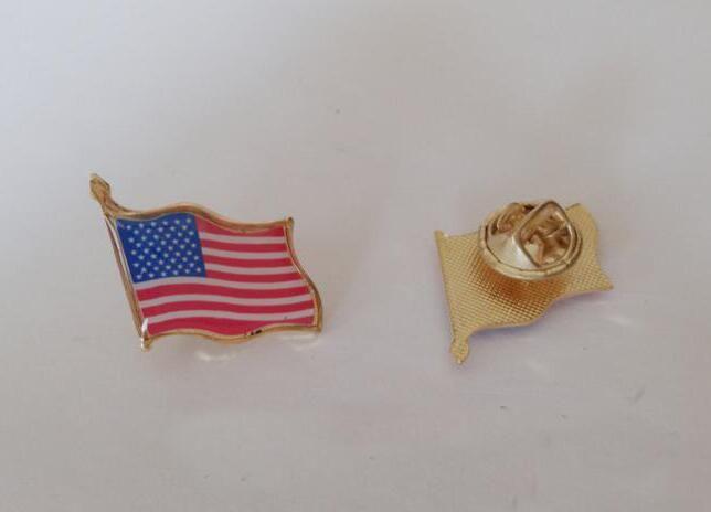 2 * 2 cm Bandeira Americana Emblema Do Metal Criativo Emblema Do Metal Broche A Bandeira Americana Do Metal Badge Party Supplies Decoração