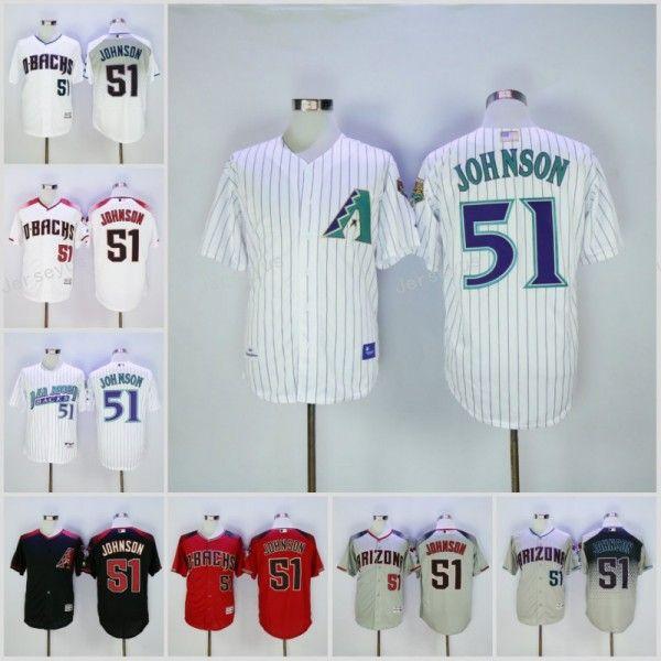 arizona diamondbacks 51 randy johnson white cool base jersey