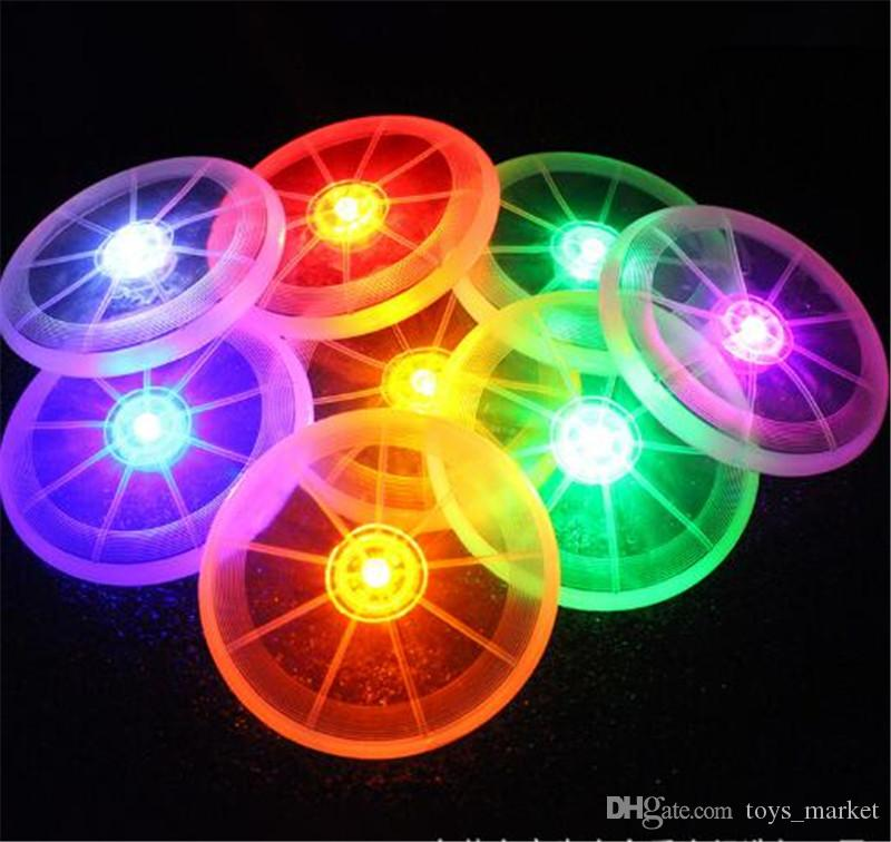 LED Flying Disk Light Up Outdoor Sports Multi-Color Toys Pet Supplies Light Up Kids sports Toys