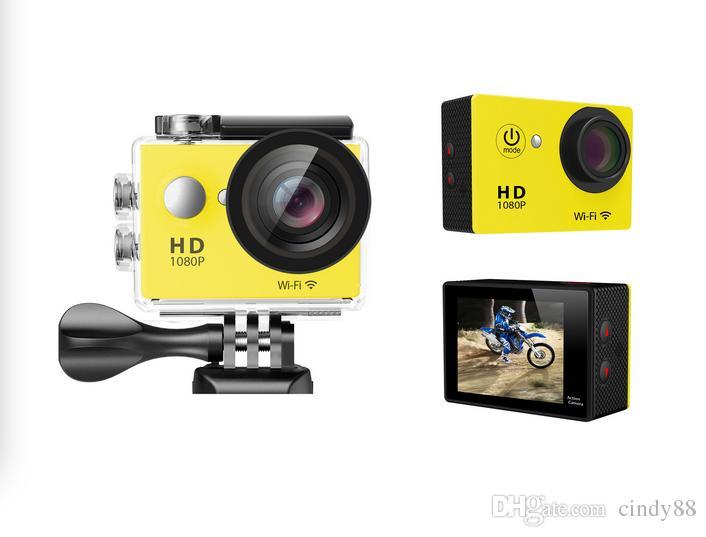 "W9R Action Cameras WIFI Remote Control Sports Video Camcorders 1080P 170 Lens 2"" Waterproof 30m Helmet Cam Mini DV"