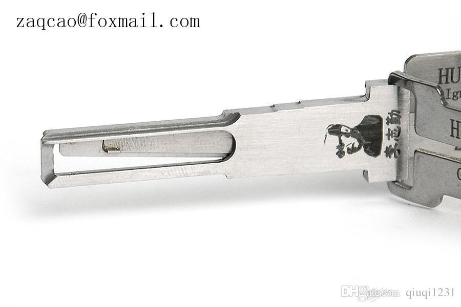 Genuine LISHI Lishi HU66 2 in pick 1 serratura e decoder VW, Seat, Skoda, Audi, Porsche