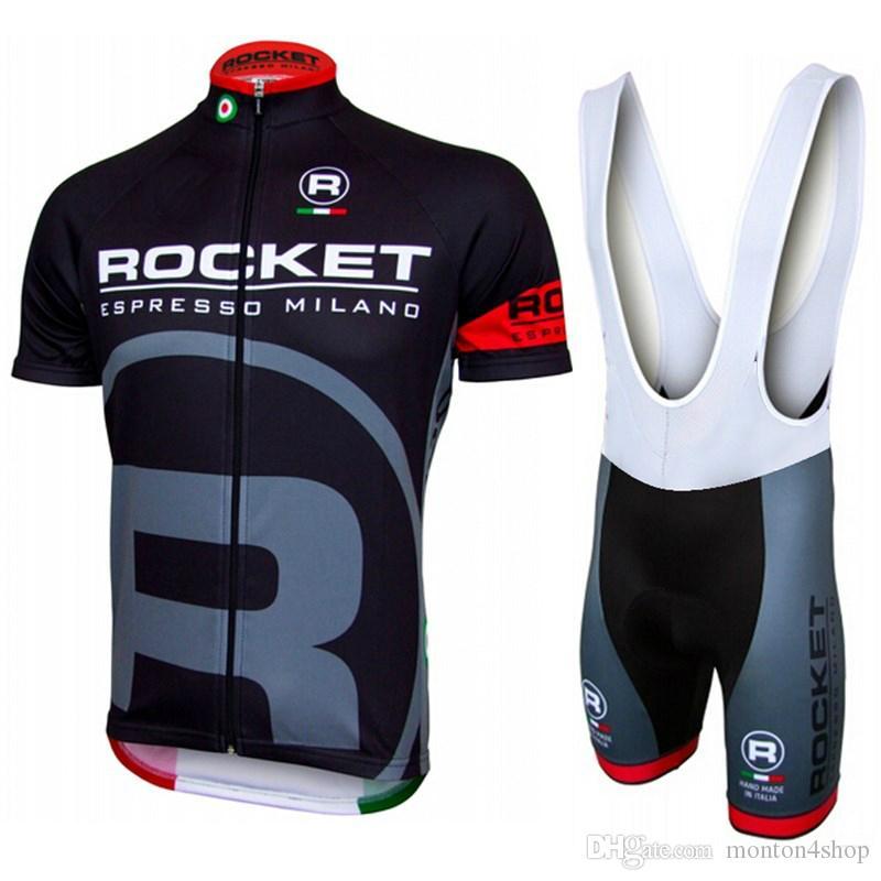 Rocket Team 2018 Cycling Jersey Set Kit Short Sleeve Cycling Clothing Mtb Bike  Short Jersey Set Summer Style Bike Wear Sportswear Biking Jerseys Road Bike  ... c38a9d1a3