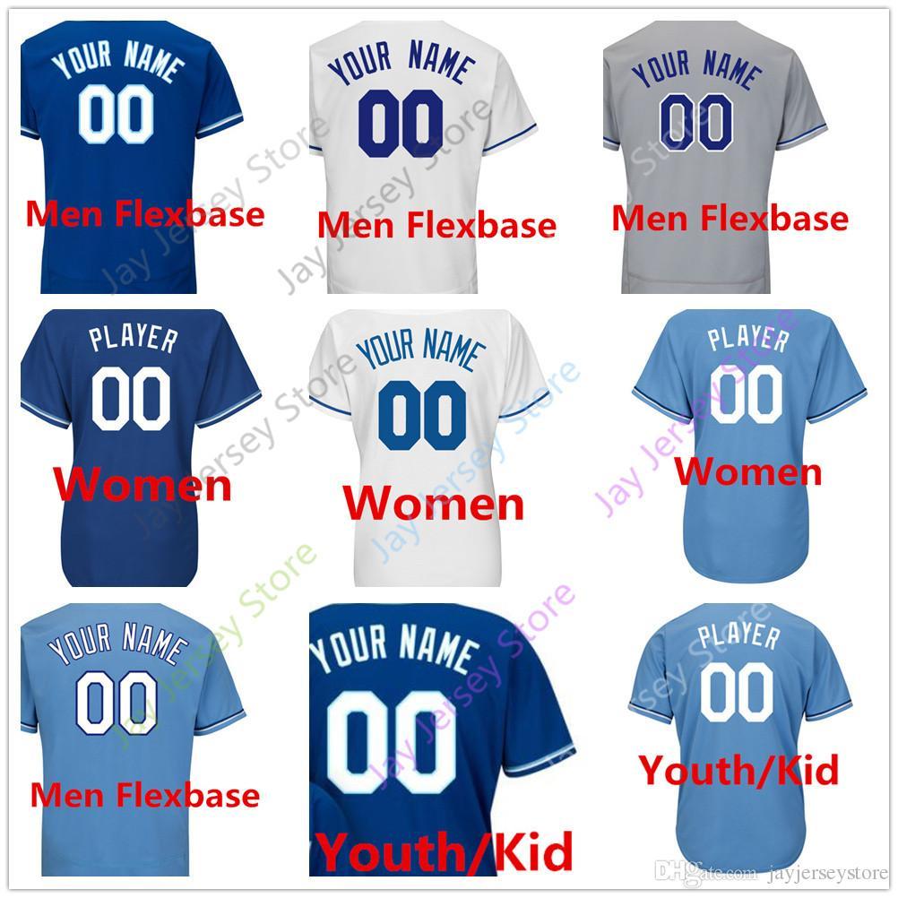 custom blank kansas city jersey men women youth baby toddler size s