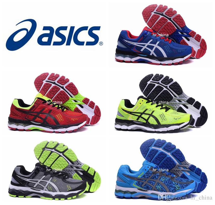 2017 New Asics Gel Kayano 22 Running Shoes For Men Wholesale Top Quality  Cushion Boots Breathable Athletic Sport Sneakers 40.5 45 Cheap Shoes Men  Running ... 42bbaa75a942