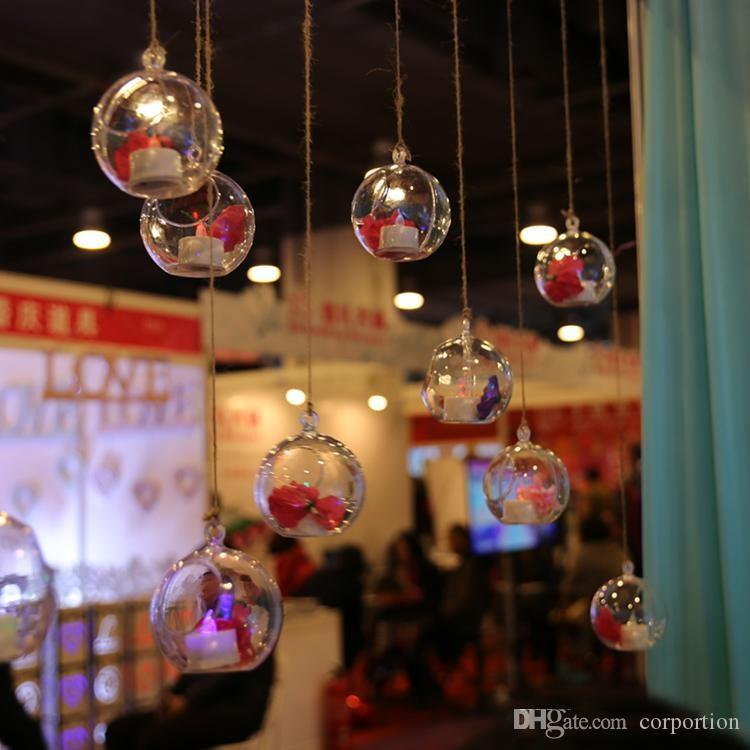Unique Design Clear Acrylic Hanging Ball Fashion Shiny Wedding Christmas Decoration Balls New Arrival Free Shipping