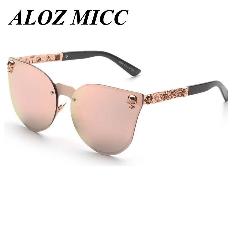 23ac9cbd8d Compre Mujeres Metal Cat Eye Sunglasses Men Unique Gafas Sin Montura UV400  A088 A $10.87 Del Chenjinyu20151104   DHgate.Com