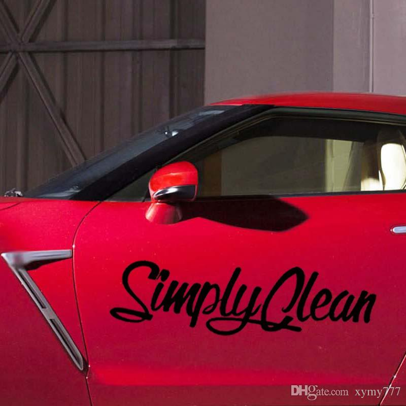 For Simply Clean Sticker Funny Jdm Car Styling Personality Car Truck Window Vinyl Decal Accessories Decorate