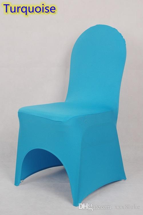 Beau Turquoise Colour Lycra Universal Chair Cover For Wedding Decoration Spandex Chair  Cover On Sale Banquet Chair Arch Front Open Dining Chair Covers To Buy ...