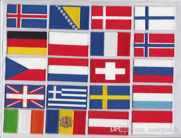 embroidery patch 200 country flags iron on hot cut border good quality for Jacket Jeans Clothing Badge