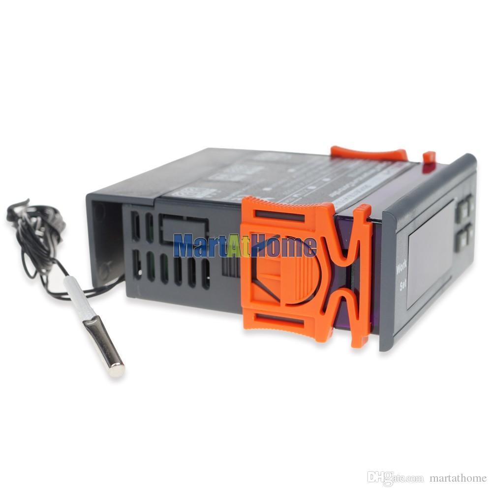 WH7016C 12/24/110 / 220V -50 ~ 110 Termostato digitale Celsius termostato elettronico con sonda acquario, rettile, terreno caldo CF