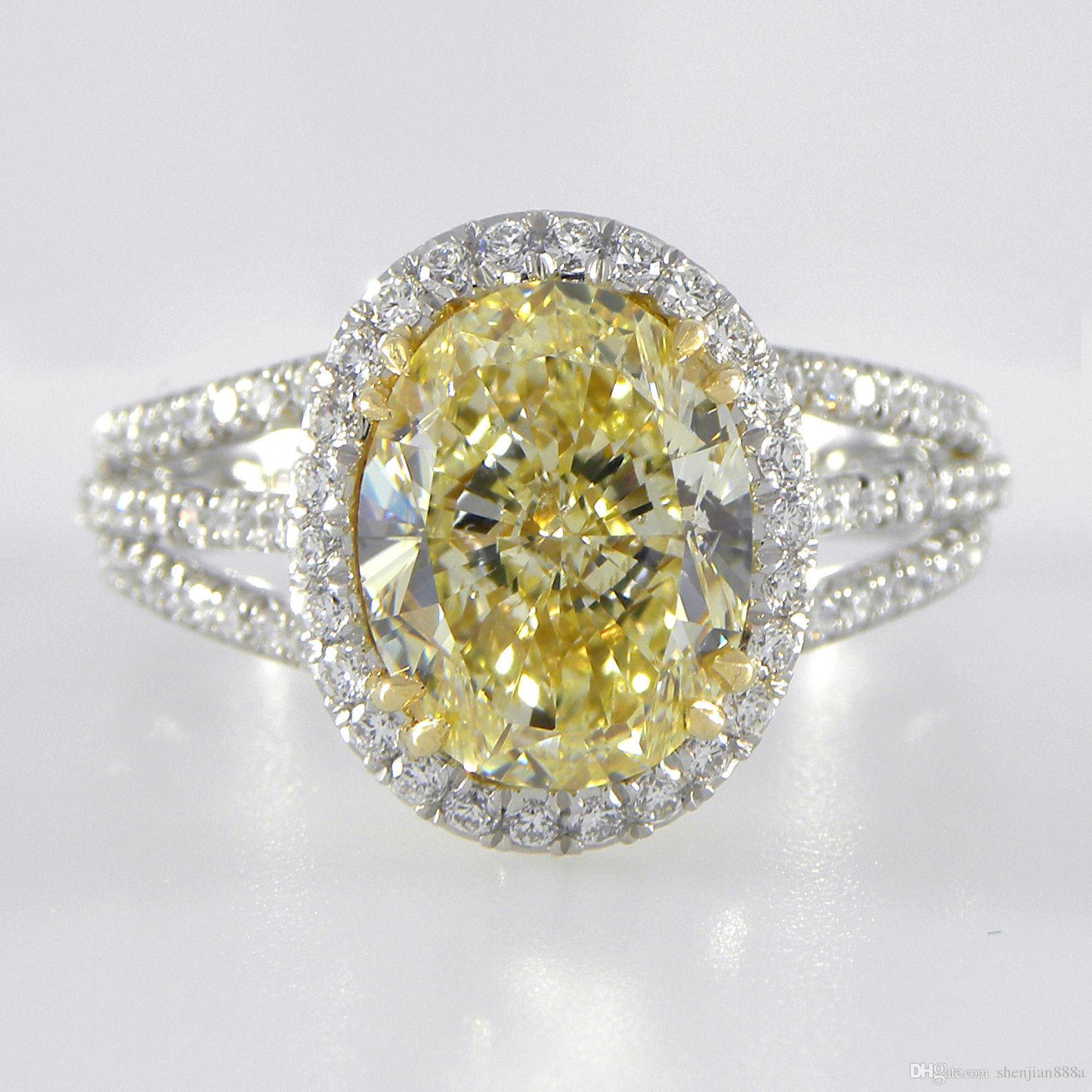 canary carat ring pinterest yellow engagement pin rings diamond