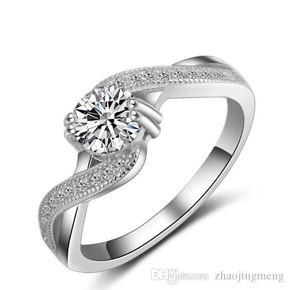 34af09fd7 2019 0.5 Ct Princess Cut Fancy Created Diamond Solid 925 Sterling Silver  Wedding Engagement Ring Jewelry From Zhaojingmeng, $28.15 | DHgate.Com