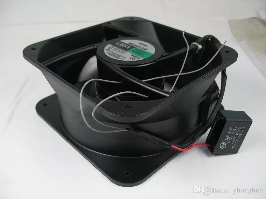 Para ORIX MRS20-DM AC 200V 230V 0.5A 50 / 60Hz 2 hilos 200x200x90mm Servidor Ventilador de refrigeración cuadrado