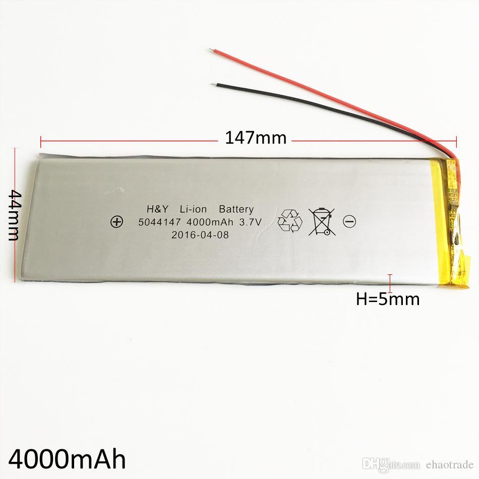 Модель 5044147 3.7 В 4000 мАч Литий-Полимерный Li-Po аккумулятор для DVD PAD Мобильный телефон GPS Банк питания Камера Электронные книги Ноутбук ТВ-бокс