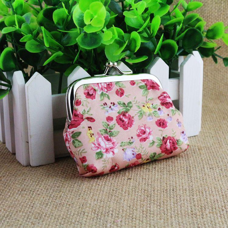 New Fashion Women Coin Purses Cute Girl Mini Bag Case Wallet Lovely Lady Retro Vintage Flower Pouch Change Purse