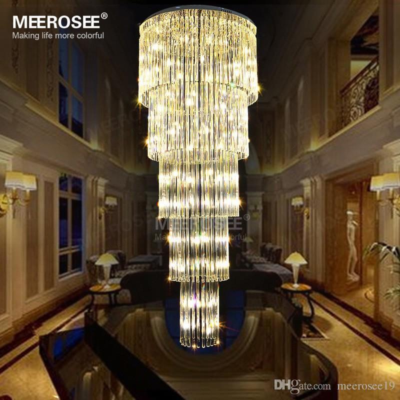 2018 Luxury Long Ceiling Light Fixture G9 Glass Lustres De Cristal ...