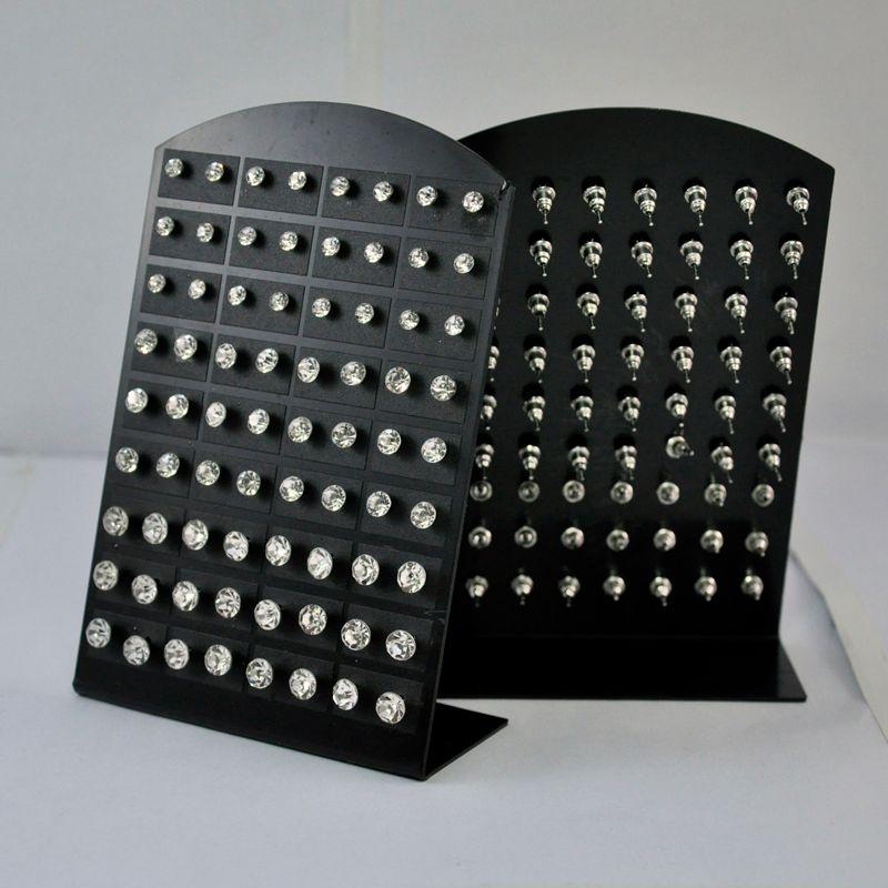 1 세트 패션 핫 라인 석 지르코니아 스테인레스 스틸 스터드 귀걸이 여성 디스플레이 보드 도매 쥬얼리 LR285 무료 배송