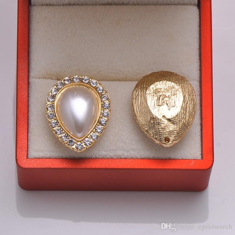 L0840 frete grátis 10 pçs / lote, botão de metal strass, luz rosa chapeamento de ouro, marfim pérola, apartamento de volta