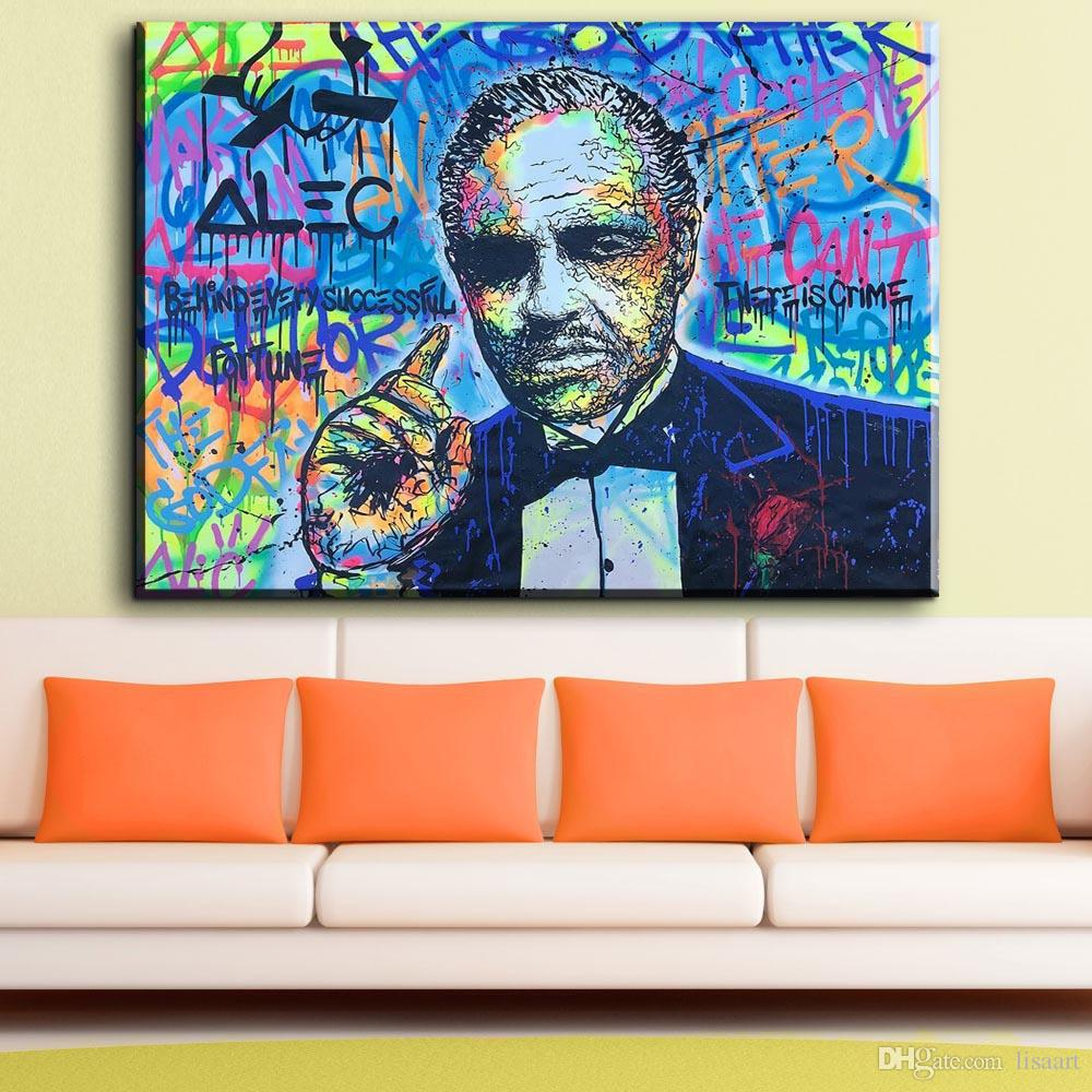 ZZ1129 graffiti art Printing Oil Painting Man Alec Monopoly Graffiti Art Wall Painting Decor Wall Art Picture Room Decor Abstract Painting