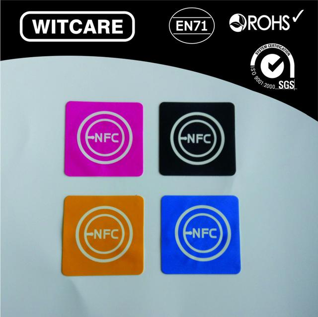 Wholesale- Free shipping(4 Pcs) NFC Tags Stickers Ntag203 13 56Mhz RFID Tag  for Samsung Galaxy S5 Note3 S4 Nokia Nexus4/10 Oppo HTC Sony LG