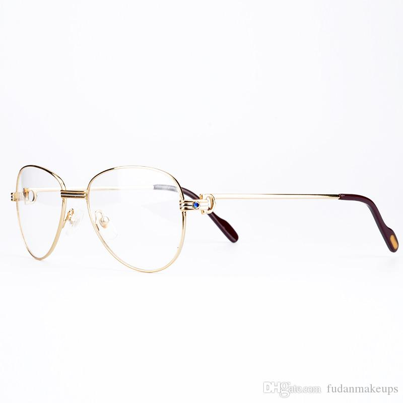 Luxury Metal Frame Optical Eyeglasses Brand Designer Prescription ...