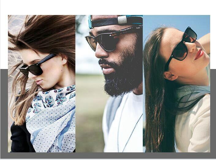 2018 Retro Rivet Polarized Sunglasses Men Black Matte Plastic Sun Glasses For Men Brand Classic Vintage Shades Oculos Male @BRB