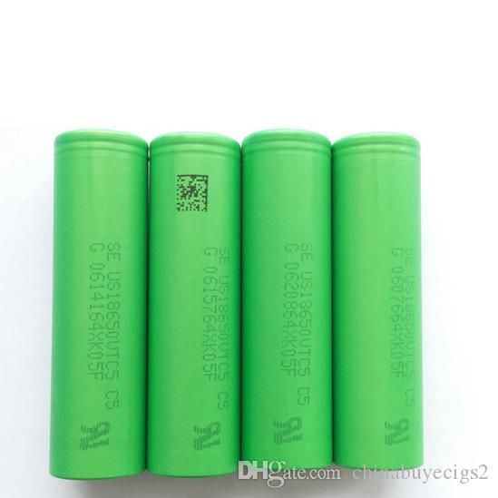 100% Genuine Sony Batteries Vtc5 Lithium Batteries High Drain 2600mah 3.6V 30A Battery Fit Ecig Box Mod Led Flashlight Fedex Free Ship