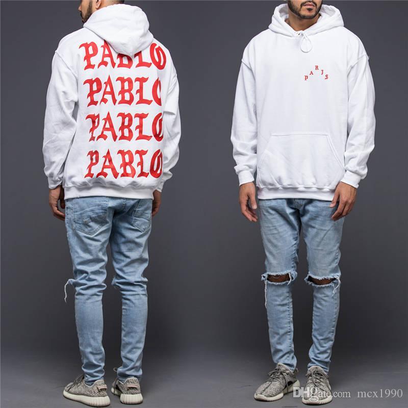 Жизнь Пабло Kanye Hoodie Men Hip Hop Pull Paris Открытие сезона 3 куртки Я чувствую себя как Пабло