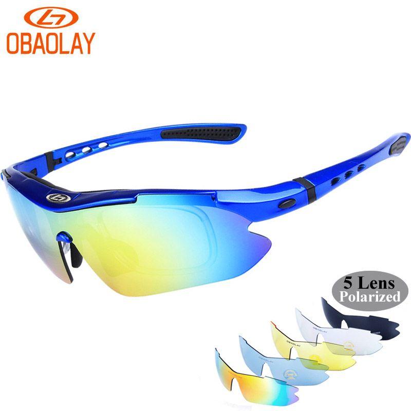 9ae01889e27 OBAOLAY Hot Outdoor Sport Polarized Sunglasses Men Gafas MTB Cycling ...