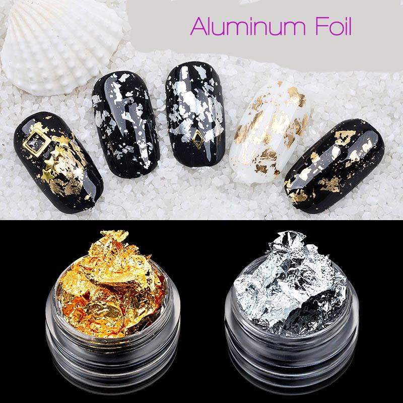 New Nail Art Decorations Aluminum Foil Nail Stickers Uv Gel Nail Art