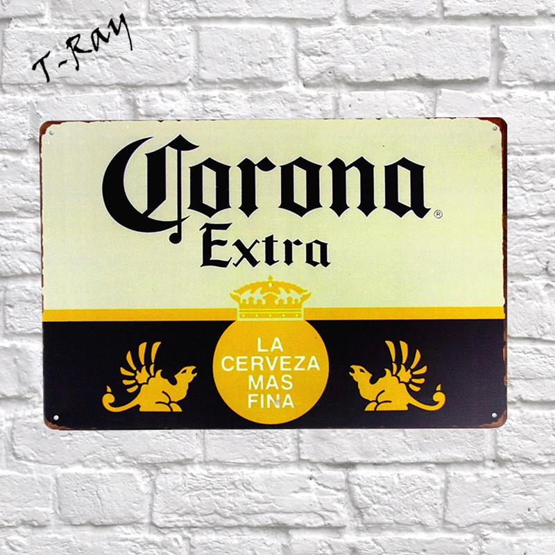 2018 Wholesale Beer Extra Vintage Metal Sign Wall Sticker For Drink ...