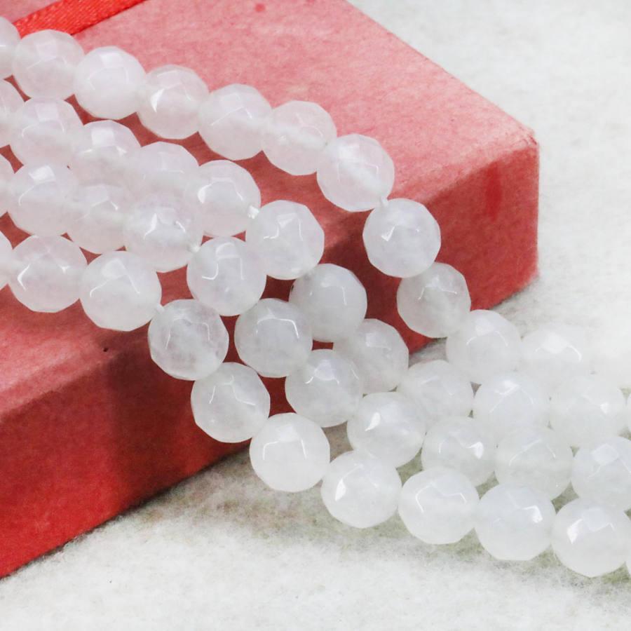 ac81ac52ca3f Compre Accesorios 8 Mm Blanco Jade Jaspe Redondo Suelto Facetado Cuentas  Piedras Para Mujer Regalo De La Muchacha 15 Pulgadas Joyería Que Hace  Diseño Al Por ...