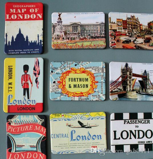 Magnetic fridge magnets London scenery home decoration accessories magnetic paste Arts/Crafts