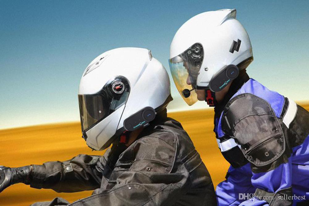 T - COMOS Motorrad Vollduplex Helm Intercom Bluetooth Wasserdicht Interphone Eingebauter 400mAh Li-Ion Akku