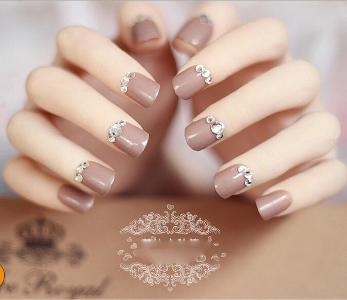 Wholesale Fake Nails With Glue Acrylic Material Faux Ongles New ...