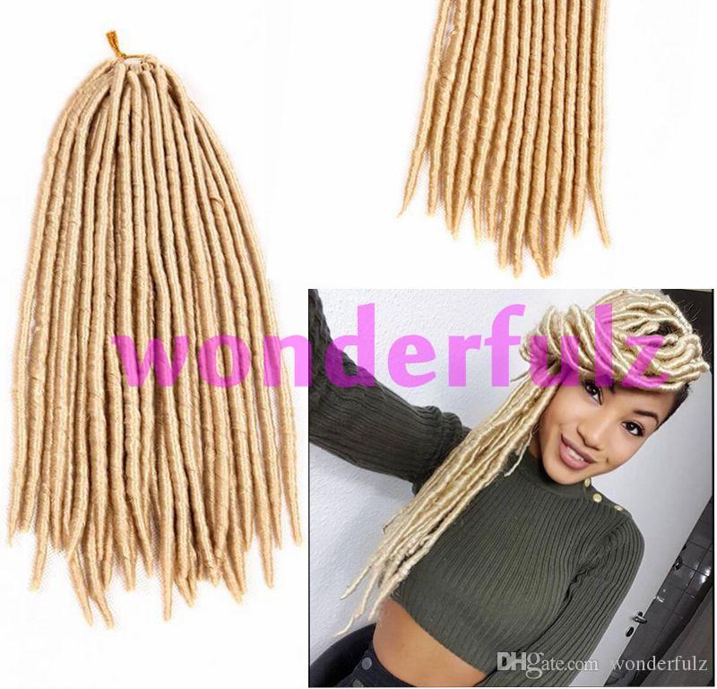 Synthetic Color 613 Braiding Hair Faux Locs Dreadlock Extensions