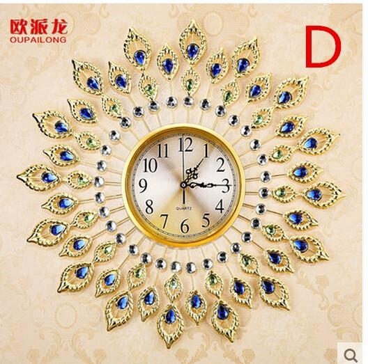 Wholesale  Creative Quiet Bedroom Peacock Quartz Clock, Fashionable Europe  Type Round Wall Clock, The Sitting Room Wall Clock Round Wall Clock Fashion  Wall ...