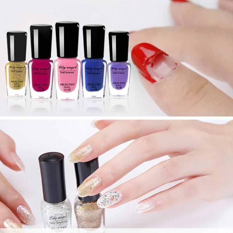 Colorful 6ml Nail Polish Gel Paint Peel Off Water Based Nails Art ...