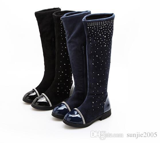 Diamond Children Winter Shoes New Children's Snow Boots Kids Warm Sneakers Girls Snow Boots Girls Winter Waterproof Botas