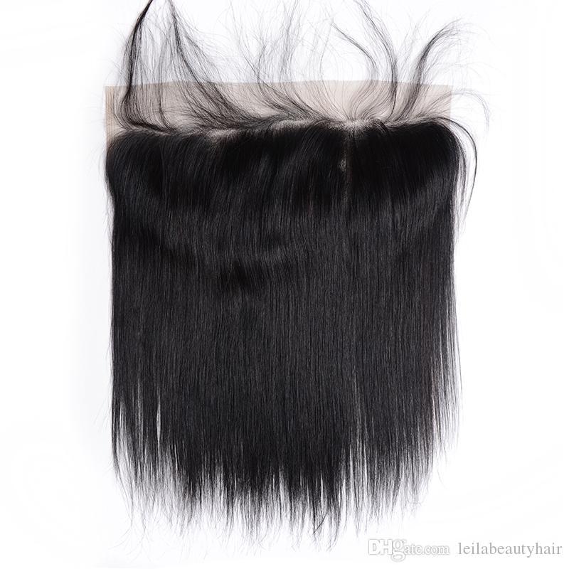 Brasilianische Jungfrau Haar 13X4 Spitze Frontal Schließung Königin Produkt 7A Glattes Haar Mit Dem Babyhaar Menschliche Spitze Frontal