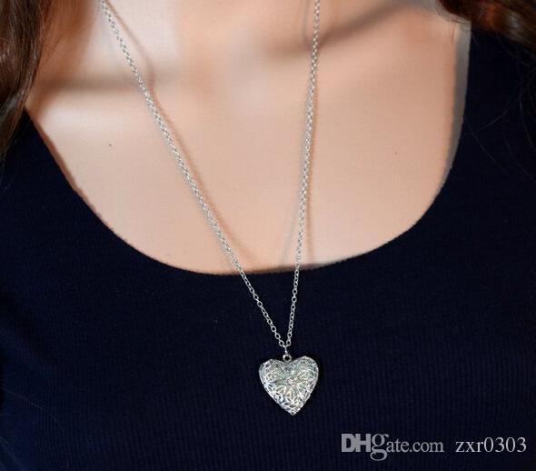 Gümüş kaplama kolye kadınlar için kolye takı gümüş moda sevimli Kalp kolye kolye takı bildirimi kız hediye